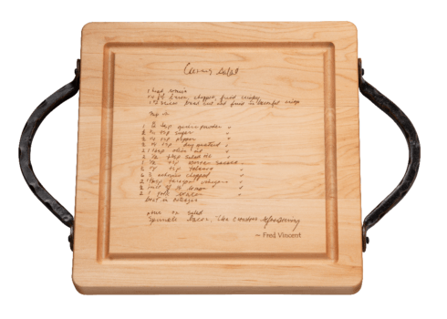 "$167.00 12"" Personalized Recipe with Handles Board"