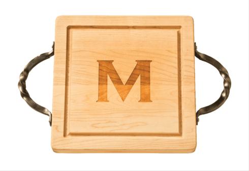 "$132.00 Personalized 12"" Square Maple Cutting Board"