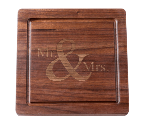 $110.00 Personalized 12 \' Square Walnut Cutting Board