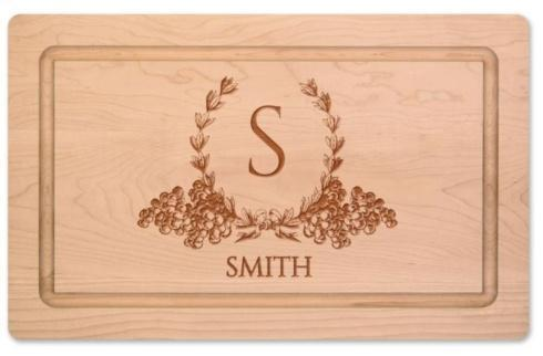 """$105.00 Personalized 16"""" Maple Cutting Board"""