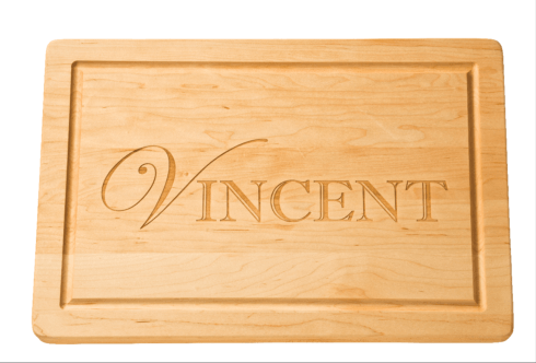 """$123.00 Personalized 18"""" Rectangle Maple Cutting Board"""