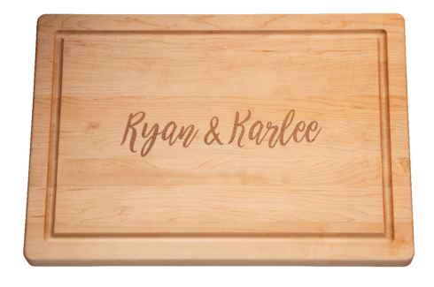 """$165.00 Personalized 20"""" Rectangle Maple Cutting Board"""