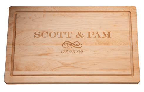 "$192.00 Personalized 24"" Maple Cutting Board"