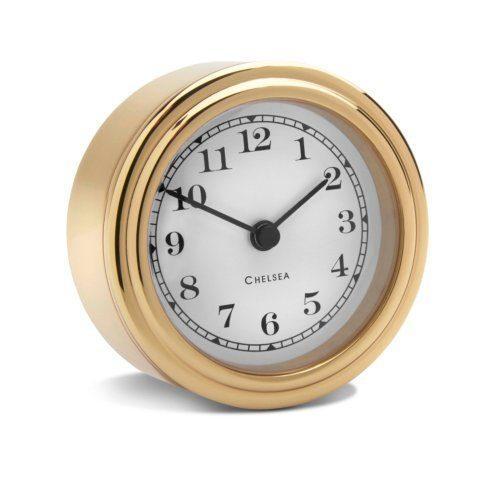 Harwick Desk Clock, Brass