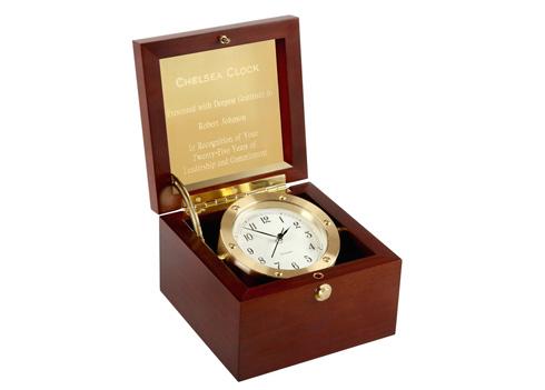 Boardroom Clock in Brass image