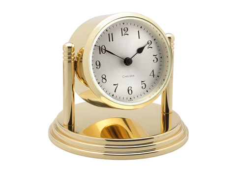 $495.00 Dartmouth Clock in Brass