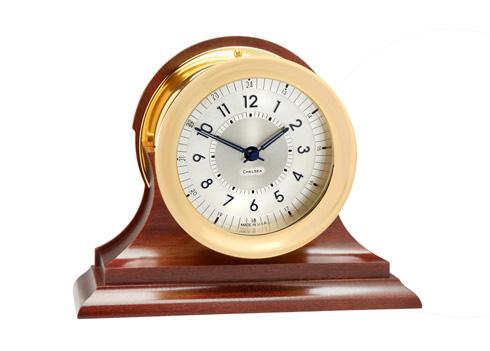 $825.00 Polaris 12/24 Clock, Brass on Traditional Base
