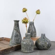 Creative Co-op  Home Items Short Wide Distressed Gray Vase $11.95