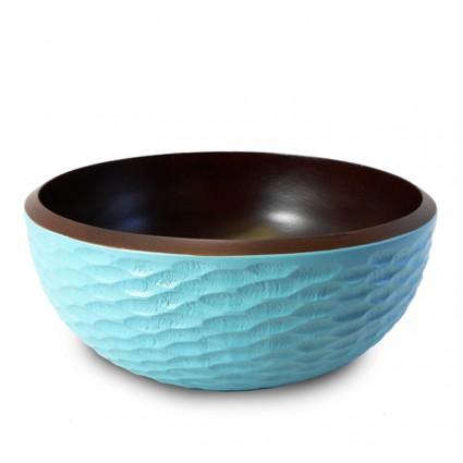 Wooden Bowl - Teal
