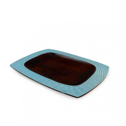 Wooden Platter - Teal