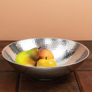 India Handicrafts  Hammered Pewter Large Bowl $62.95