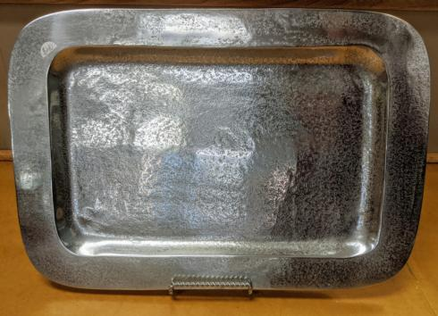 India Handicrafts  Textured Pewter Tray $40.00