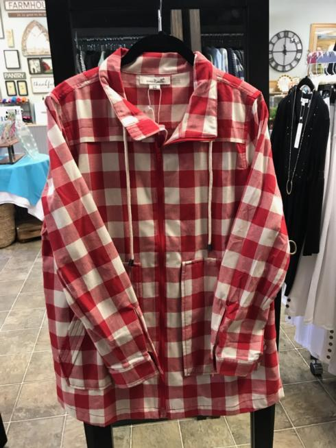 $64.99 Checkmate Jacket - Red - S/M