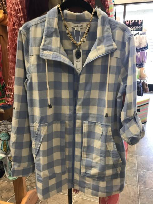 $64.99 Checkmate Jacket - Periwinkle - L/XL