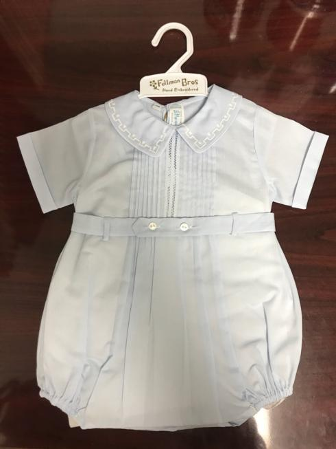 Feltman Brothers  Boys Clothes Blue Bubble Outfit w/ White Detailing - Size 6M $60.95