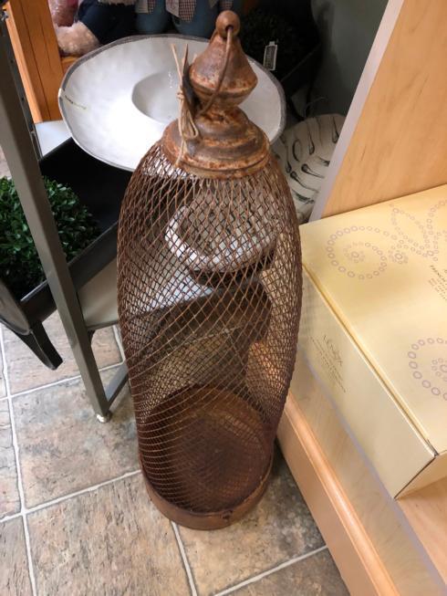 Oak and Olive   Wire Lantern $51.95
