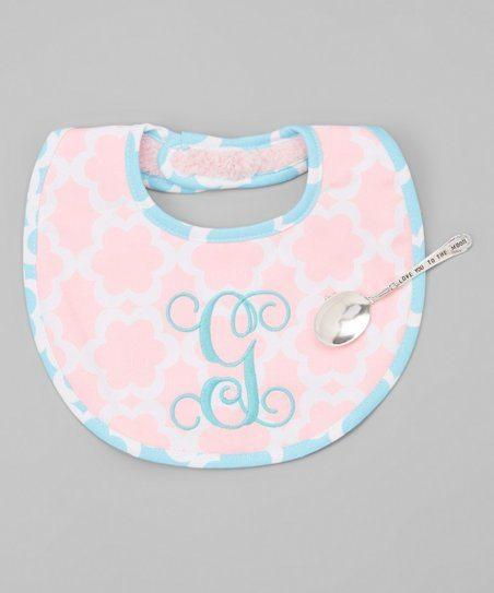 $21.95 Initial Bib with Spoon