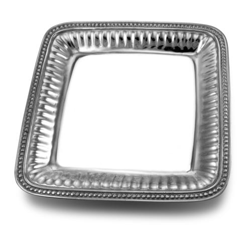 Flutes and Pearls - 12 inch Square Tray