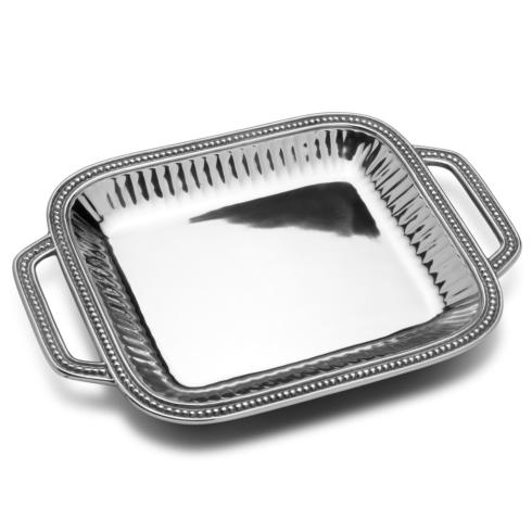 Flutes and Pearls - Rectangle Tray w/ Handles