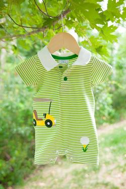 Kissy Kissy  Boys WW - Golf Romper $35.00