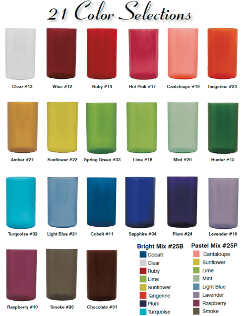 Bentley Drinkware   Pack of 4 - Custom Color & Letter $26.95