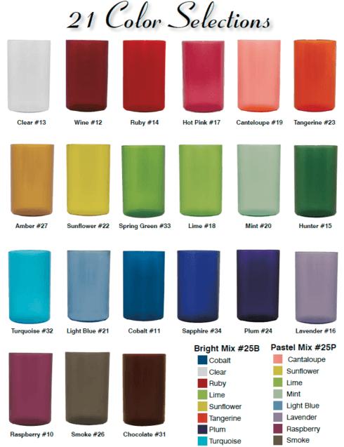 Bentley Drinkware   Pack of 4 - Custom Color & Letter $26.95