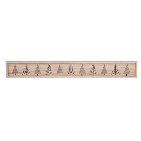 Bloomingville   Wooden Long Christmas Plank w/ Christmas Trees $16.95