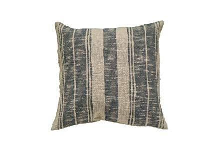 $32.95 Beige & Charcoal Stripped Pillow