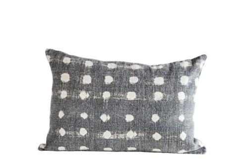 $34.95 Charcoal Polka Dot Pillow