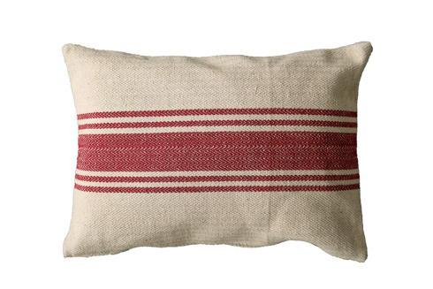 $32.95 Red Stripes Pillow