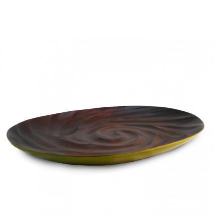 Wooden Platter - Green (Spiral)