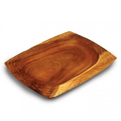 Acacoa honeycomb wood platter