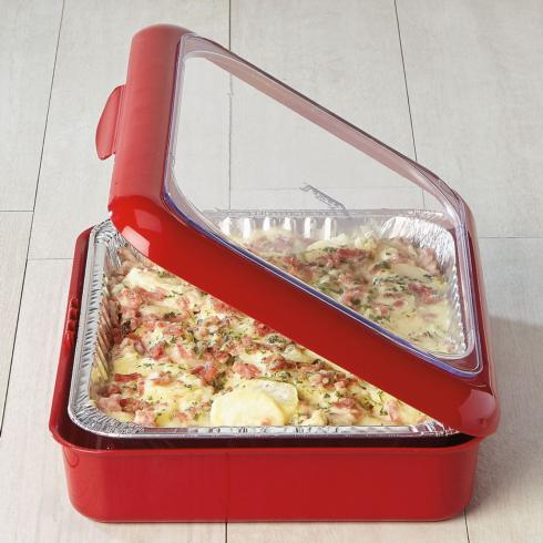 Fancy Panz   Red Casserole Dish $23.95