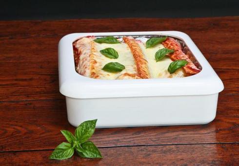 Fancy Panz   White Casserole Dish $23.95