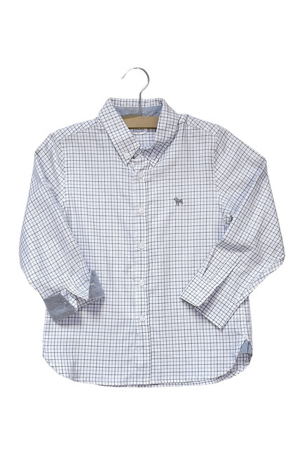 Kissy Kissy  Boys FMC - Blue Gray & White Button Up $30.00