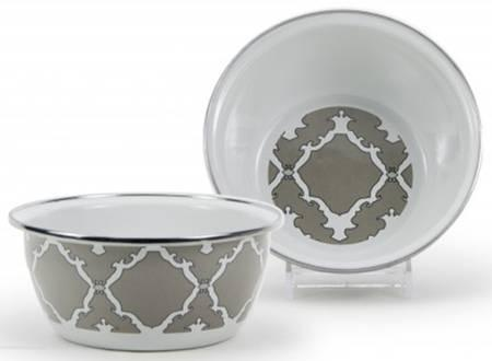 Creative Co-op   Gray and White Dip Bowl $13.00
