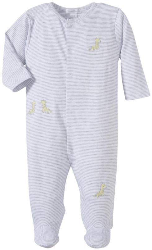 Kissy Kissy  Neutral  Giraffe Babies Stripe Footie $39.95