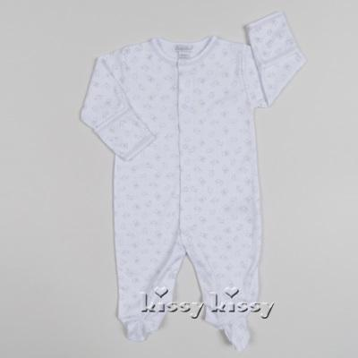 Kissy Kissy  Neutral  Gray Carousel Print Footie $42.95