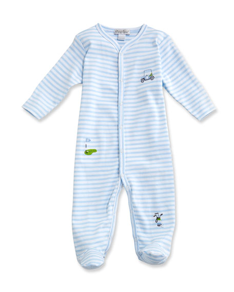 Kissy Kissy  Boys Golf Stripe Footie $45.00