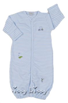 Kissy Kissy  Boys Golf Stripe Gown $44.95