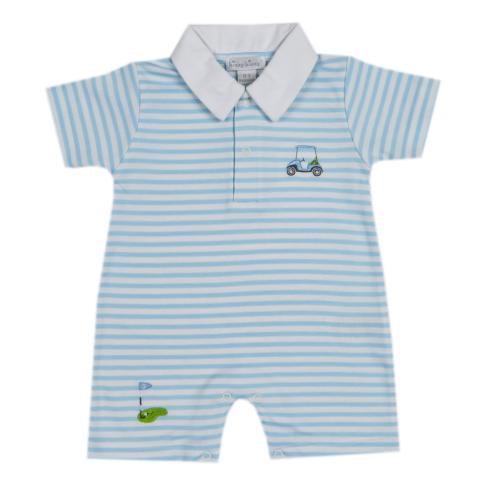 Kissy Kissy  Boys Golf Stripe Playsuit w/ Collar $38.95
