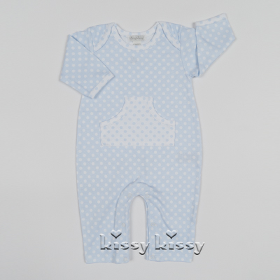 Kissy Kissy  Boys Polka Dot Playsuit - Blue $38.95