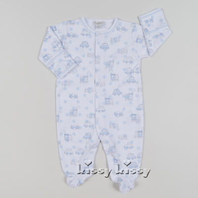Kissy Kissy  Boys Polka Dot Transport Print Footie $43.95