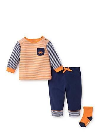 Little Me  Boys Clothes Navy Jogger Set w/ Socks $22.00