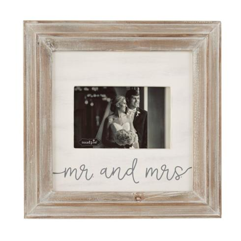 Mudpie   4x6 Mr. & Mrs. Frame $26.95