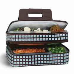 Oak and Olive   Brown w/ Blue Squares Casserole Carrier $49.95