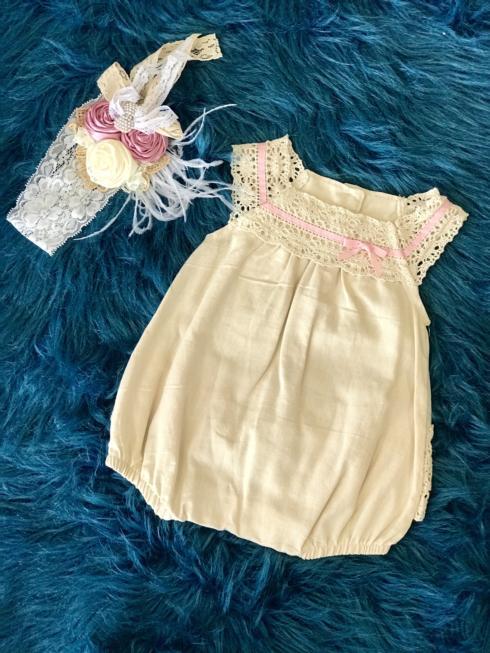 Kissy Kissy  Girls PNC - Cream Lace Bubble $55.95