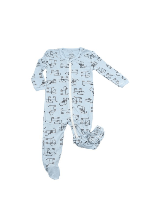 Kissy Kissy  Boys SB - Dog Print Footie $30.95