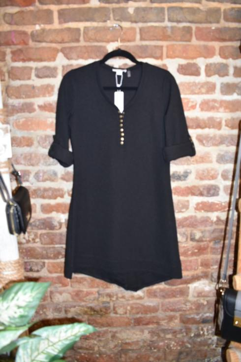 $52.99 Thermal & Louise Dress/Tunic - Black - S/M