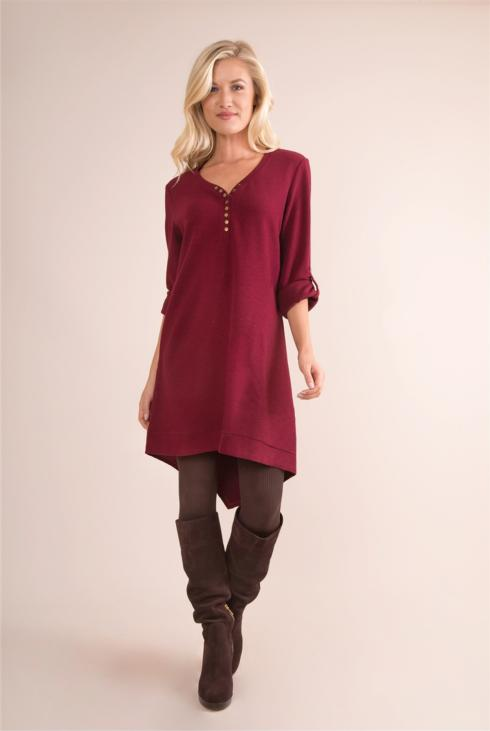 $52.99 Thermal & Louise Dress/Tunic - Maroon - S/M